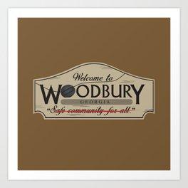 Welcome to Woodbury Art Print