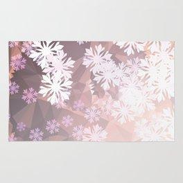 Snowflakes winter dance Rug