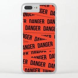 Danger Clear iPhone Case