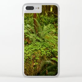 In The Cold Rainforest Clear iPhone Case