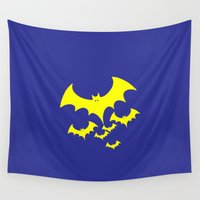 bat Wall Tapestries featuring Bat by Spooky Dooky