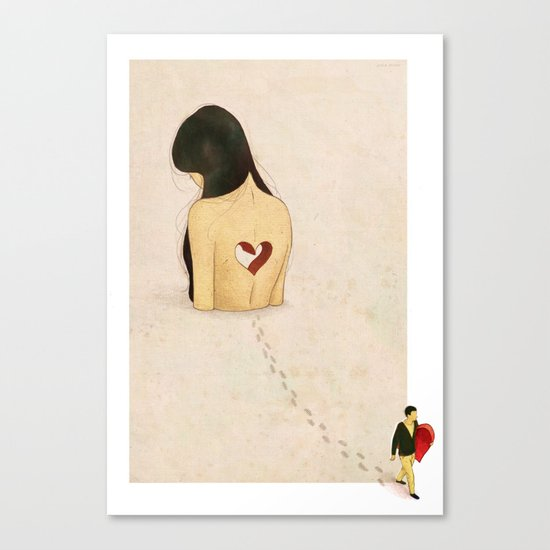 """you stole my heart away"" Canvas Print"