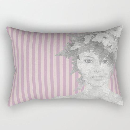 Look at me (romantic flowers vintage) Rectangular Pillow