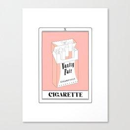the cigarette tarot card Canvas Print