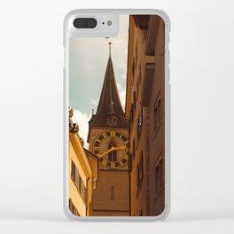 Clock Tower II Clear iPhone Case
