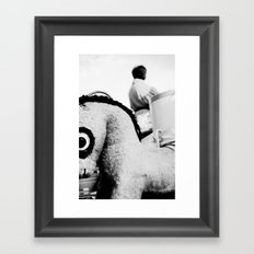 Pony with big eyes Framed Art Print
