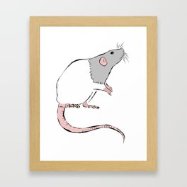 Rattie Framed Art Print
