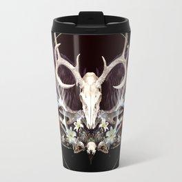Deer and Crow Skulls Single Image Travel Mug