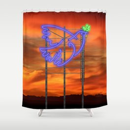 Peace Pigeon Stand - The Copy is a Hommage Shower Curtain