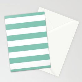 Lucite green stripes Stationery Cards