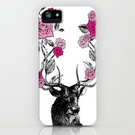 The Stag and Roses | Pink iPhone Case