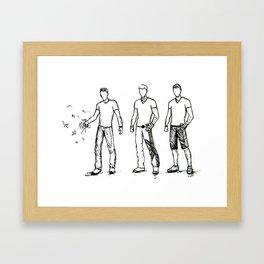 Faceless Heroes Framed Art Print
