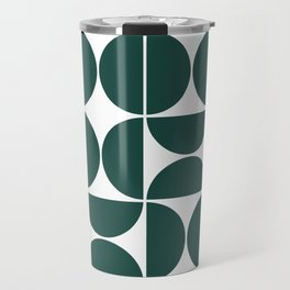 Mid Century Modern Geometric 04 Dark Green Travel Mug