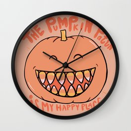 The Pumpkin Patch is my Happy Place Wall Clock