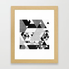 The Triangles Framed Art Print