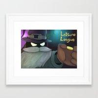 league Framed Art Prints featuring Liesure League by MsonArts