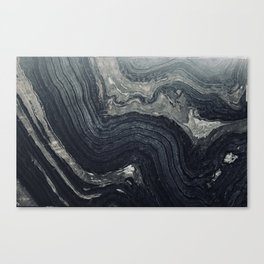 Dark Gray Marble Pattern Canvas Print