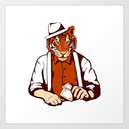 Tiger Poker Face Art Print