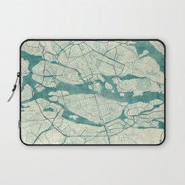 Stockholm Map Blue Vintage Laptop Sleeve