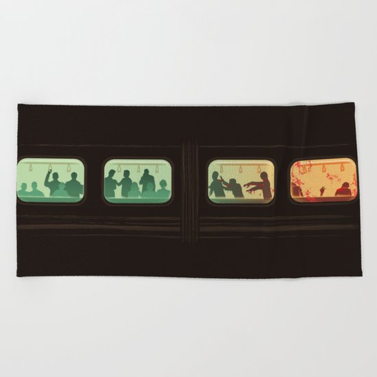 Ground Zero - Zombie Subway Beach Towel