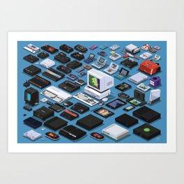 A Pixel Retrospective Art Print