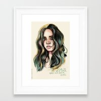west coast Framed Art Prints featuring   West Coast  by vooce & kat