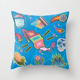 Admiring Mexico Throw Pillow