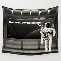 astronaut Wall Tapestries featuring Astronaut by eARTh
