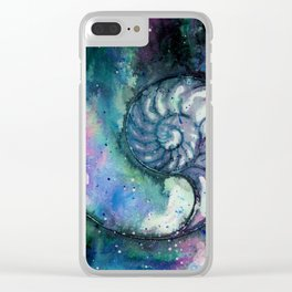 Nature Music No.1D by Kathy Morton Stanion Clear iPhone Case