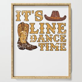 It's Line Dance Time Serving Tray