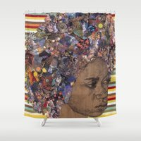 afro Shower Curtains featuring Afro by Chris McArdle