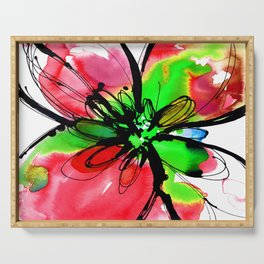 Ecstasy Bloom No.17g by Kathy Morton Stanion Serving Tray