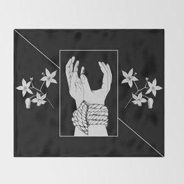 Tied & Nightshade Throw Blanket
