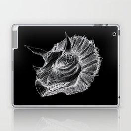 Triceratops negative drawing Laptop & iPad Skin