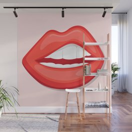 Big mouth – Lip Illutration Wall Mural
