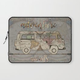 adventure awaits world map design 1 Laptop Sleeve