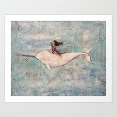 Flight of the Narwhal Art Print
