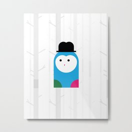 THE MISSING SCARF - Owl Metal Print
