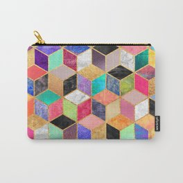 Colorful Cubes Carry-All Pouch