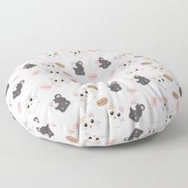 Hamsters and Macarons Floor Pillow