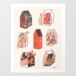 Little boxes Art Print