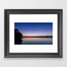 Sunset at the lake. Framed Art Print