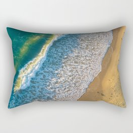 Waves on The California Coast Aerial Nature Photography Rectangular Pillow