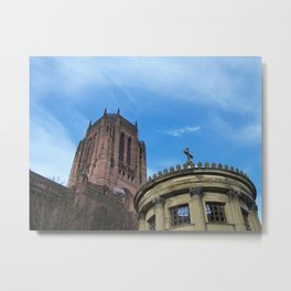 THE ANGLICAN CATHEDRAL, LIVERPOOL, ENGLAND Metal Print