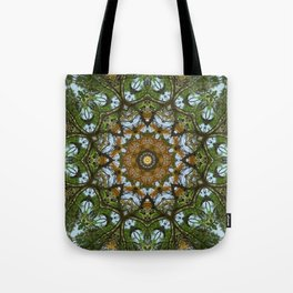 Yellow Tree Flower Kaleidoscope Art 5 Tote Bag