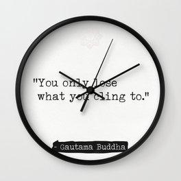 Buddha quote 3 Wall Clock