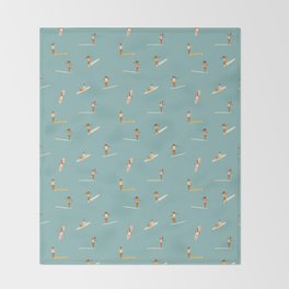 Surf girls Throw Blanket