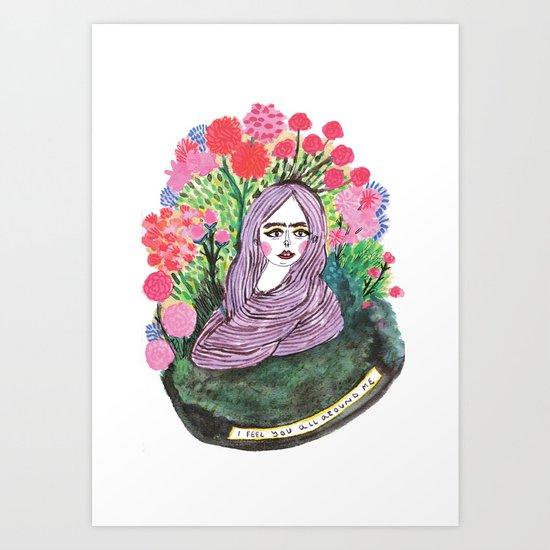 I feel you Art Print