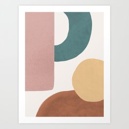 Abstract Earth 1.2 - Painted Shapes Art Print