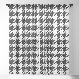 Houndstooth Large Classic Pattern Sheer Curtain